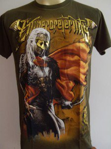 Emperor Eternity Mask Warrior Men T-shirt  Army L