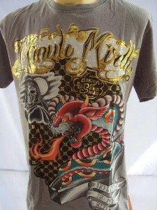 Minute Mirth Tiger Head Python Tattoo Men T-shirt  L