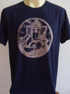 Ganesha Ganesh  Men T Shirt OM Hindu India Blue L