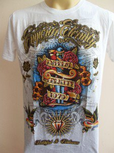 Emperor Eternity Diamond Dagger Tattoo shirt White M L