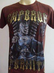 Emperor Eternity Skull Prince Tattoo T-shirt Brown M