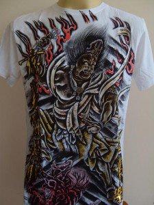 Emperor Eternity Oni God Tattoo Men's T-shirt White L