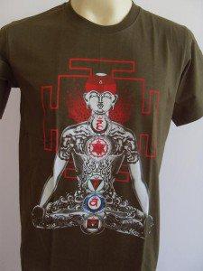 YOGA Men's T Shirt OM Hindu India Meditation Army L