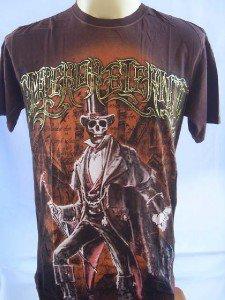 Emperor Eternity Skull Magician Men Tattoo T shirt L