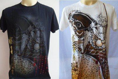 Emperor Eternity  KOI CARP Tattoo Men T-shirt M L #1