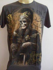 Emperor Eternity Skull General Men Tattoo T-shirt Gray L