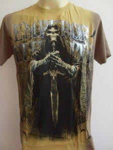 Emperor Eternity Skull Paladin Knight Tattoo T-shirt Yellow L