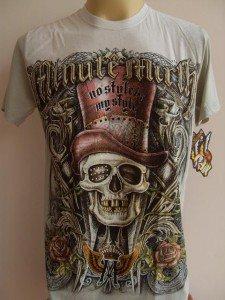 Minute Mirth High Hat Tattoo Men T-shirt L White-green
