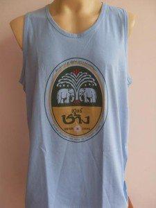 Thai Chang Beer Men T-shirt Tank Top blue XL