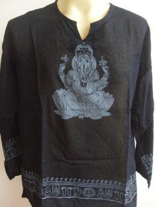 Ganesha Ganesh  Men T Shirt OM Hindu India Black L # lotus