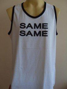 Thai  SAME SAME T-shirt Tank Top  Singlet White XL