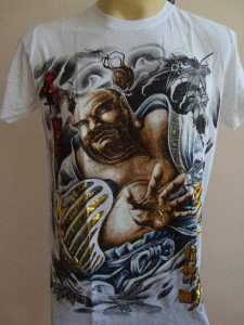 Emperor Eternity Hotei Japanese Tattoo white M L
