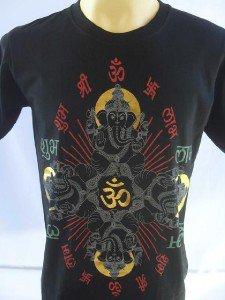 Ganesha Ganesh  Men T Shirt OM Hindu India Black M