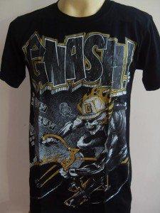 Gnash Skull Cyclist Tattoo T-shirt Black M