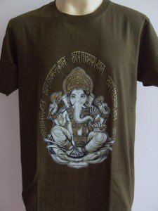 Ganesha Ganesh  Men T Shirt OM Hindu India Army L 18060 7833