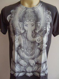Ganesha Ganesh Men Shirt OM Hindu India Gray M