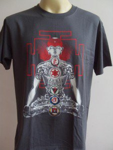YOGA Men's T Shirt OM Hindu India Meditation Gray XL