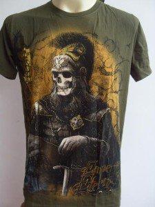 Emperor Eternity Skull General Tattoo T-shirt Green M