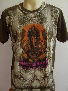Ganesh Lord of Ganesha Men T Shirt OM Hindu Hinduism Green L #Grlotus