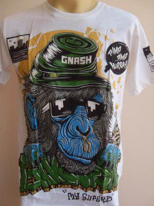 Gnash Hip Hop Runny Nose Chimpanzee Tattoo Men T-shirt White M