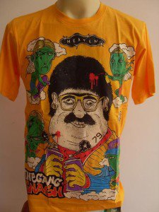 Gnash Hip Hop Cross - eyed graffiti Tattoo Men T-shirt Yellow L
