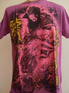 Emperor Eternity Japanese Dragon Saint Tattoo T-shirt Purple L