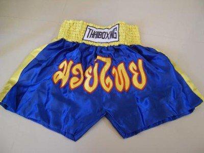 Muay Thai Kick Boxing shorts Satin Blue size XL