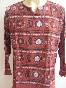 Ganesh Om Men's T Shirt Hindu India Rust L