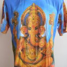 Ganesha Lord of Ganesh  Men T Shirt OM Hindu Hinduism India Blue L 18083 4883