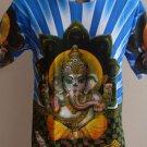 Ganesh Shakti Ganpati OM God Hindu Blue XL