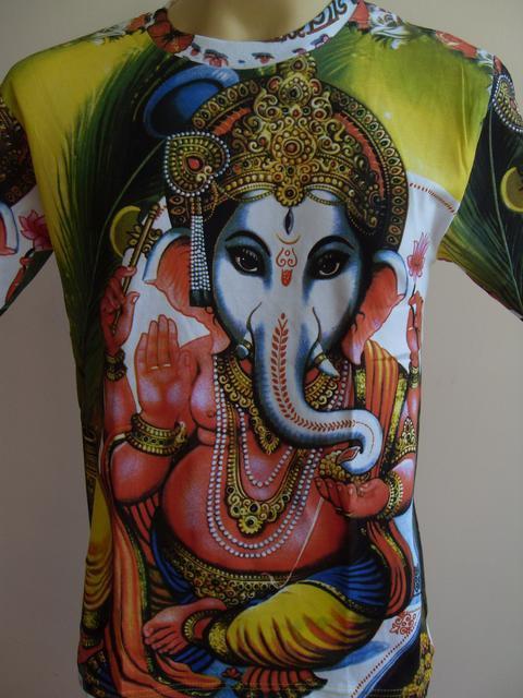 Ganesh Shakti Ganpati OM God Hindu Green XL
