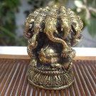 Lord Pancha Mukha Ganesh Ganesha Ganapati Hinduism Brass statue Amulet