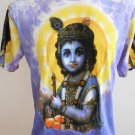 "Bala ""Divine Child Krishna""Men T Shirt OM Hindu India size XL"