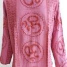Ganesh Ganesha Om Men's T Shirt Hindu India Red L #OT02 Thin Cotton
