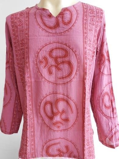 Ganesh Ganesha Om Men's T Shirt Hindu India Red 2XL #OT02 Thin Cotton