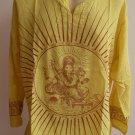 Ganesh Ganesha Om Men's T Shirt Hindu India Yellow L #Thin Cotton