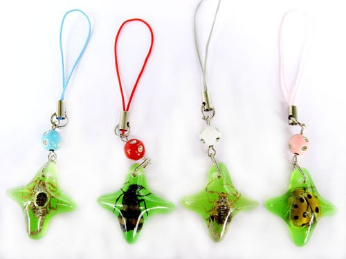 Wholesale Lot 12 Rhombus Insect Bug Cellhphone Mobile Strap String