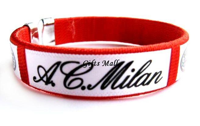 AC Milan FC Club Football Sport Adjustable Bangle Bracelet New