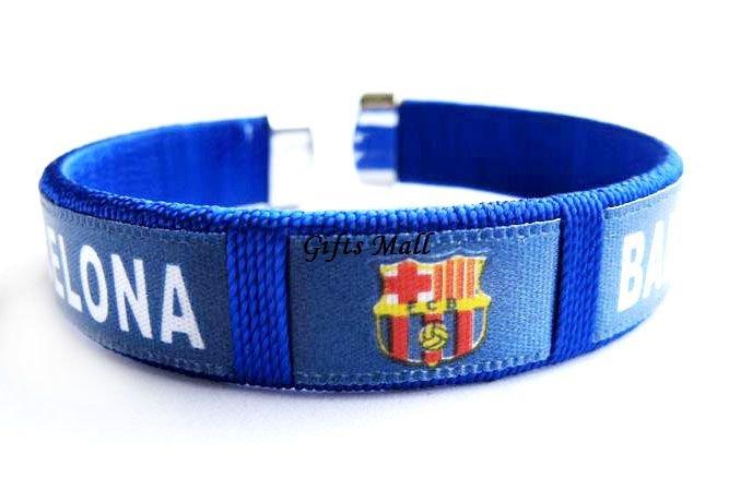 Barcelona FC Club Football Sport Adjustable Bangle Bracelet New