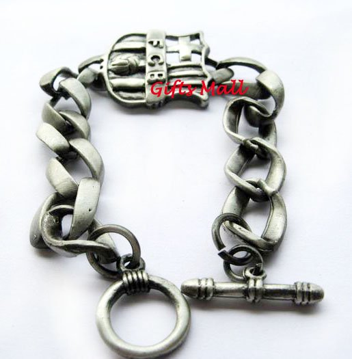Barcelona FC Club Football Sport Metal Bangle Bracelet New