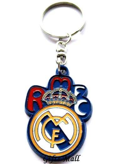 Real Madrid Football Sport FC Club Metal Key Chain Ring