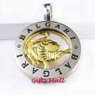 Horoscope Zodiac Constellation Stainless Steel Necklace Pendant Leo