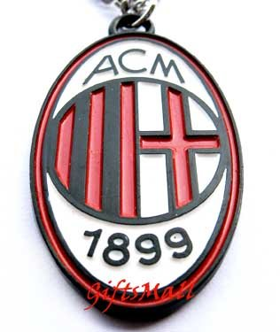 AC Milan FC Club Football Sport Soccer Colorful Necklace Pendant With Chain