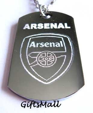 Arsenal FC Club Football Sport Soccer Dog Tag Necklace