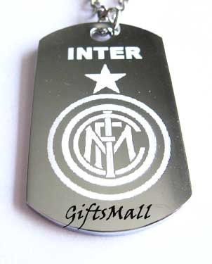 Inter Milan FC Club Football Sport Soccer Dog Tag Necklace