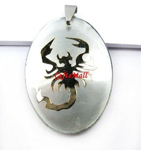 Horoscope Zodiac Constellation White Oval Necklace Pendant Scorpio