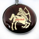 Horoscope Zodiac Constellation Red Round Necklace Pendant Sagittarius
