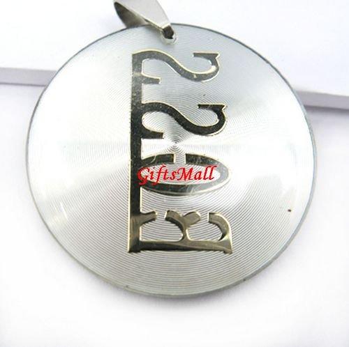 White Round Gold Plated Charm Unique Necklace Pendant