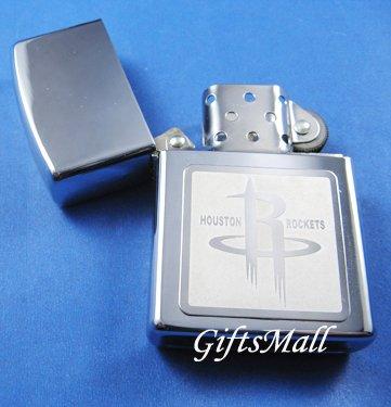 Stainless Steel Cigarette Lighter NBA Houston Rockets