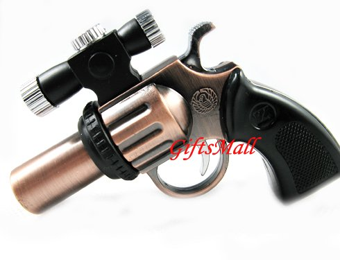 Pistol Shaped Butane Cigarette Lighter With Laser Sight